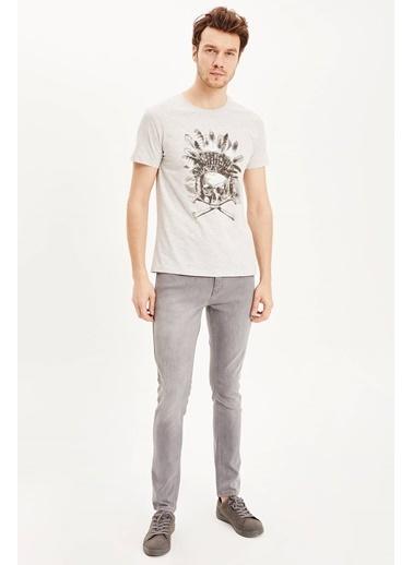 DeFacto Slim Fit T-Shirt Gri